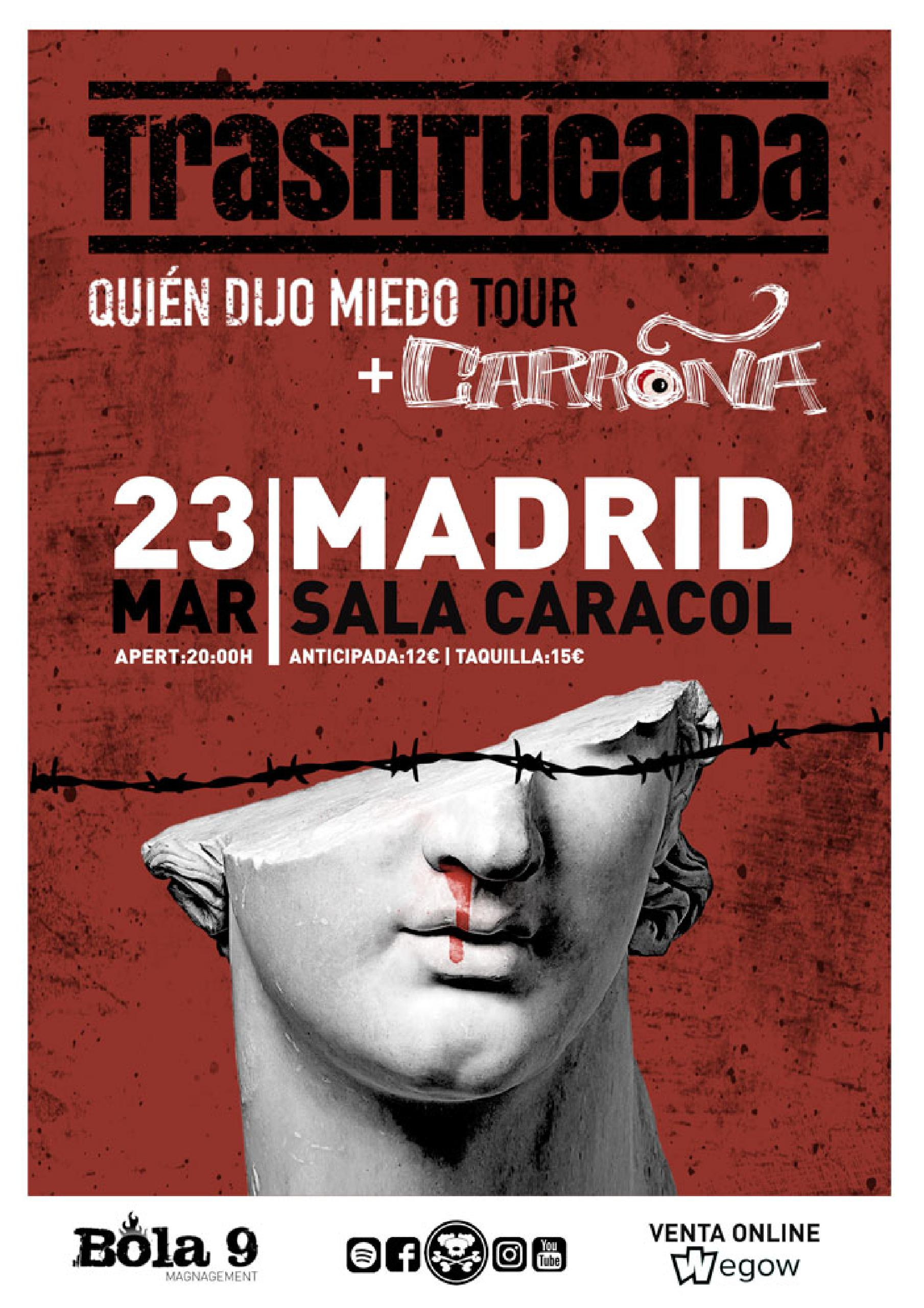 CONCIERTO de TRASHTUCADA en MADRID