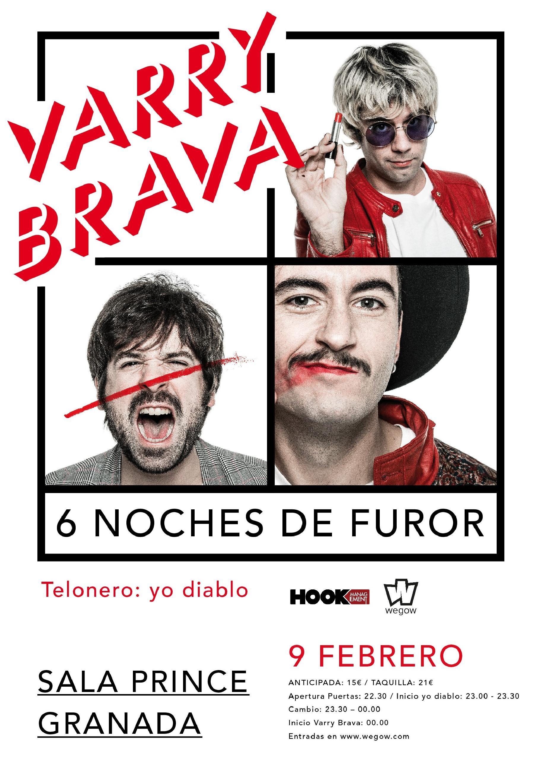 Varry Brava en Sala Prince Granada