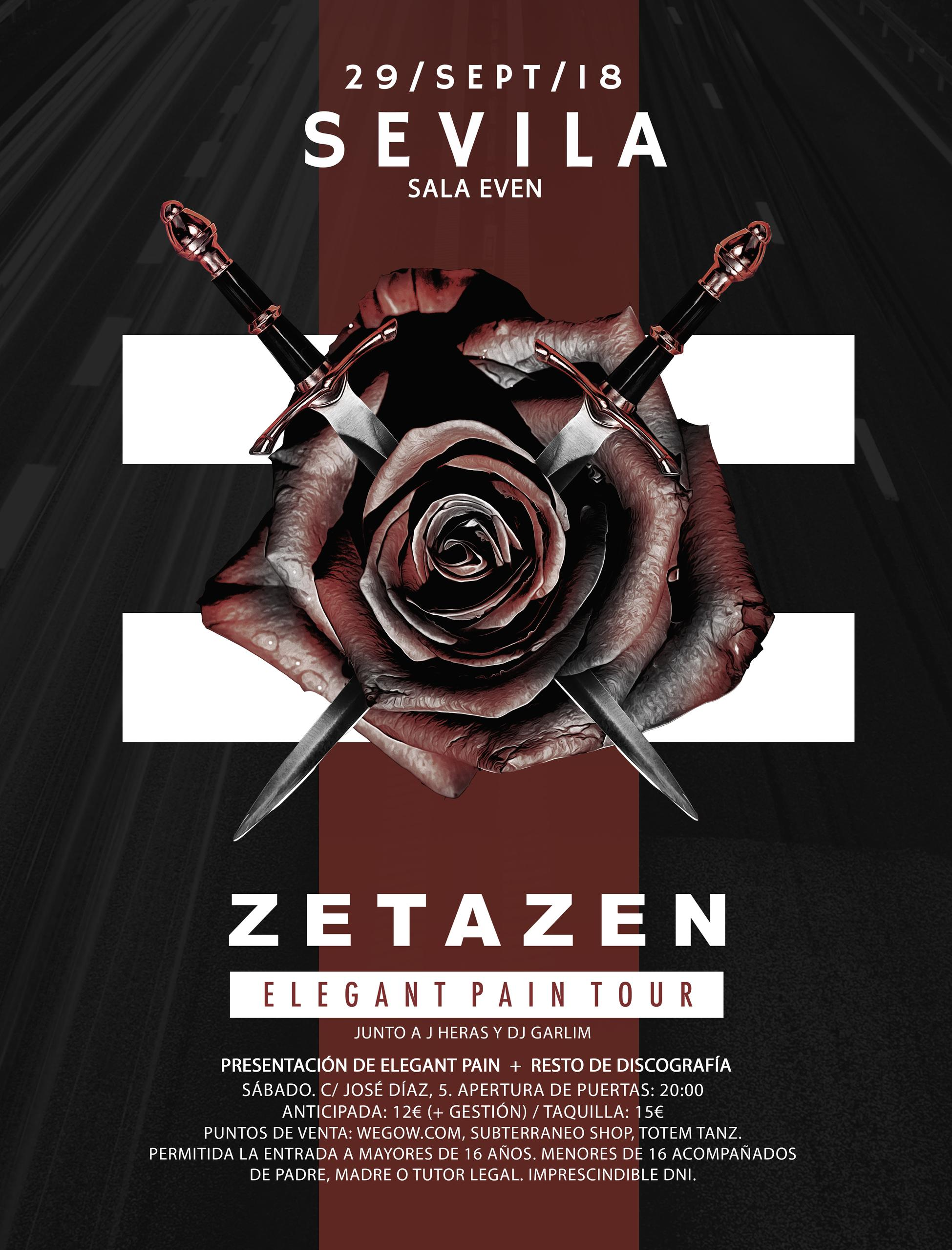 Zetazen estrá actuando en la Sala Even de Sevilla el Sábado 29 de Septiembre