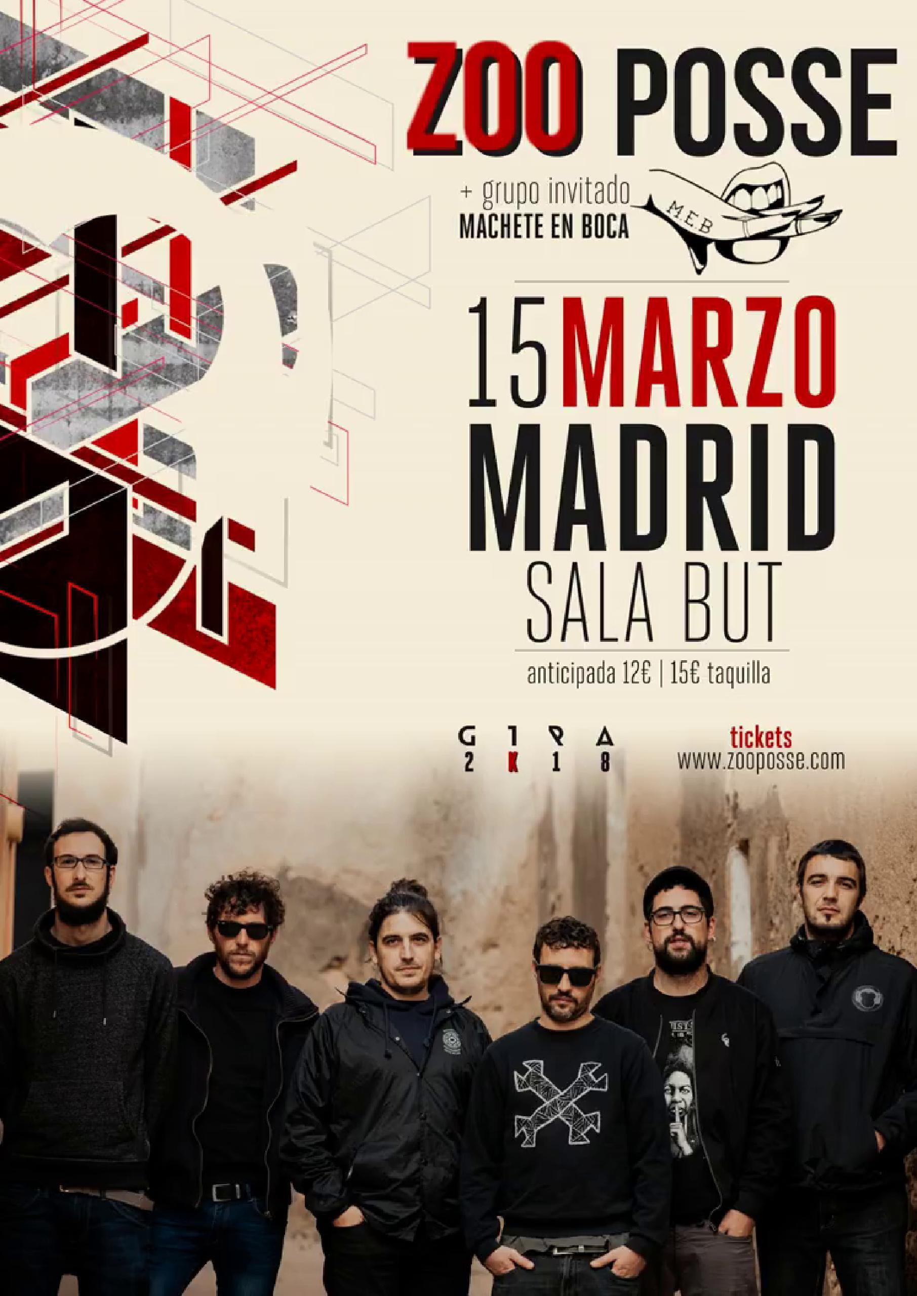 CONCIERTO de ZOO en MADRID