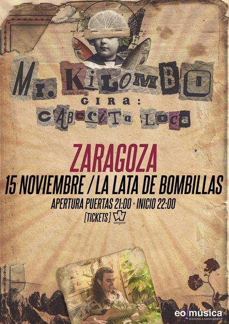 Concierto Mr. Kilombo en Zaragoza
