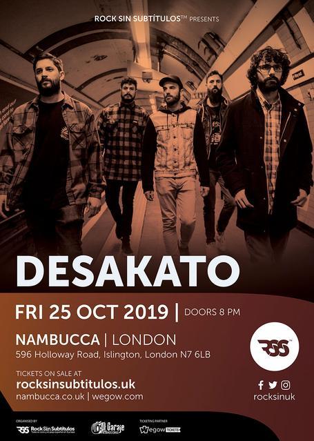Viernes 25 octubre 2019 / 20 horas @ Nambucca, Londres