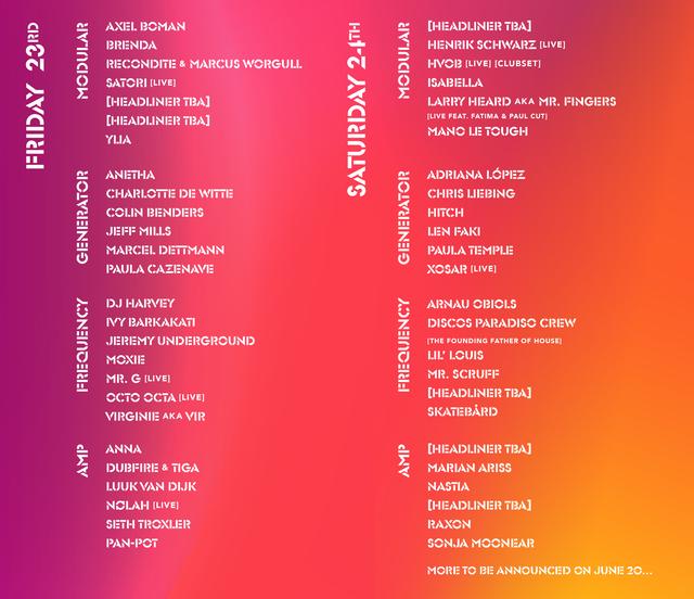 DGTL Schedule 2019 Barcelona