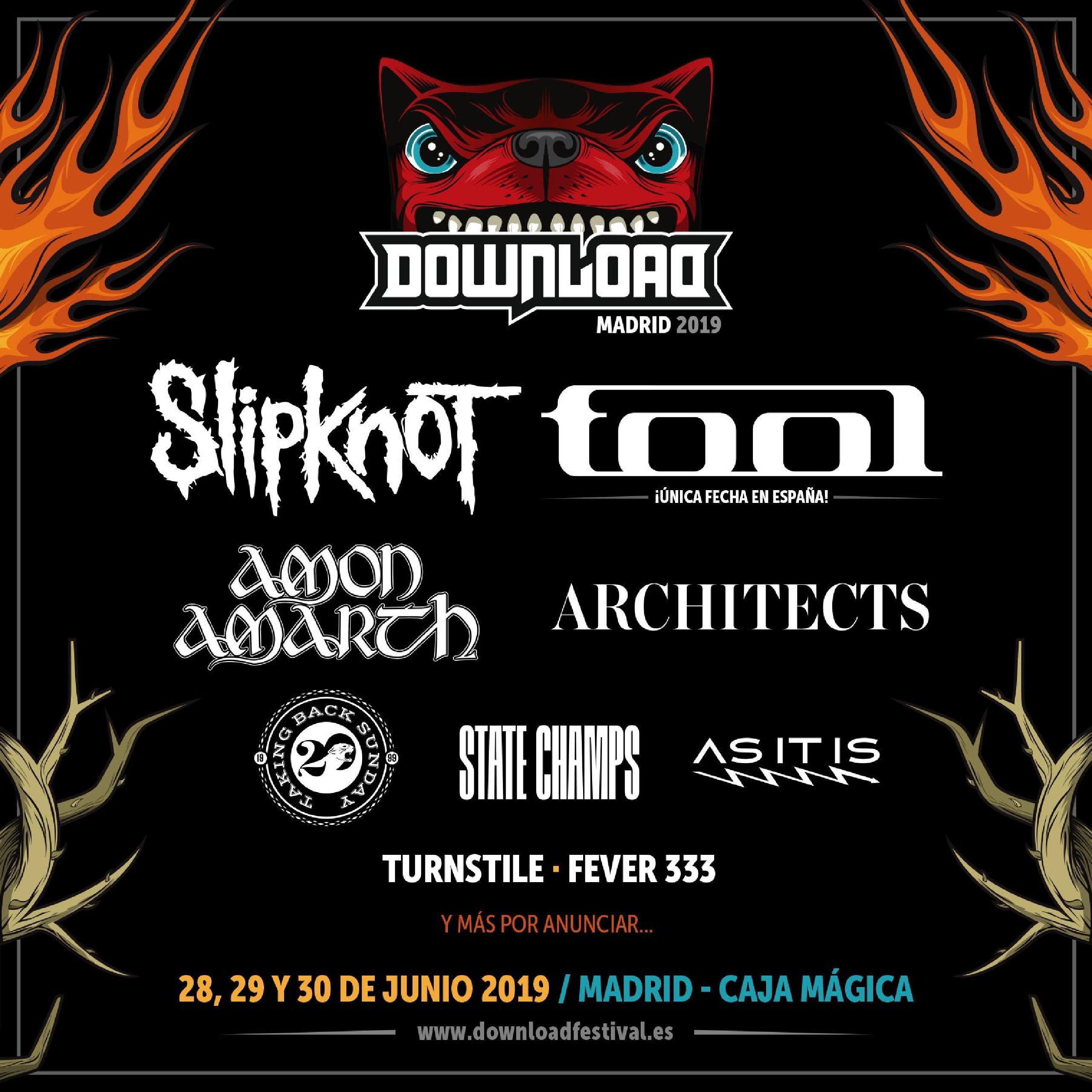 Primeras confirmaciones Download Festival 2019