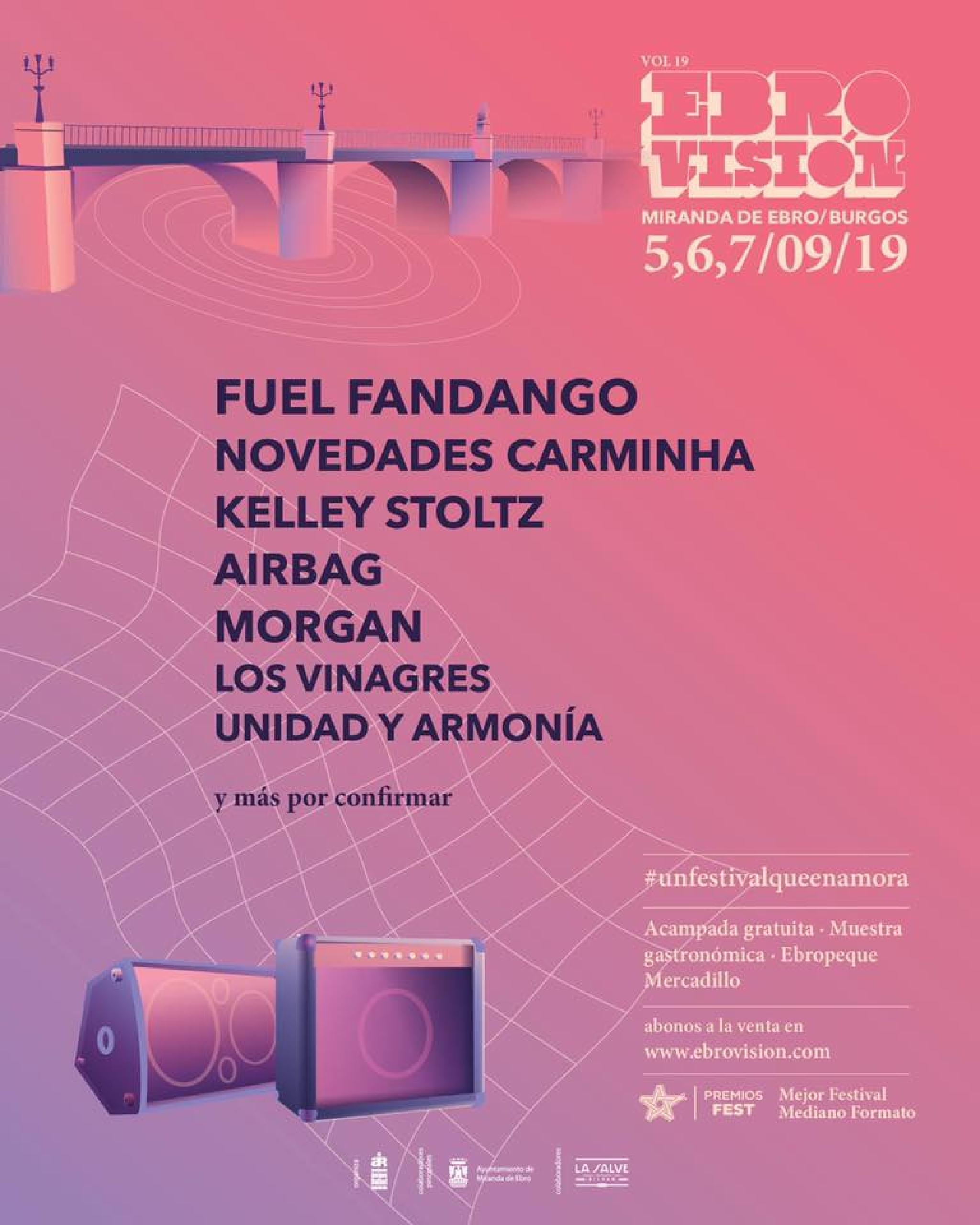 Primeras confirmaciones cartel Ebrovision 2019