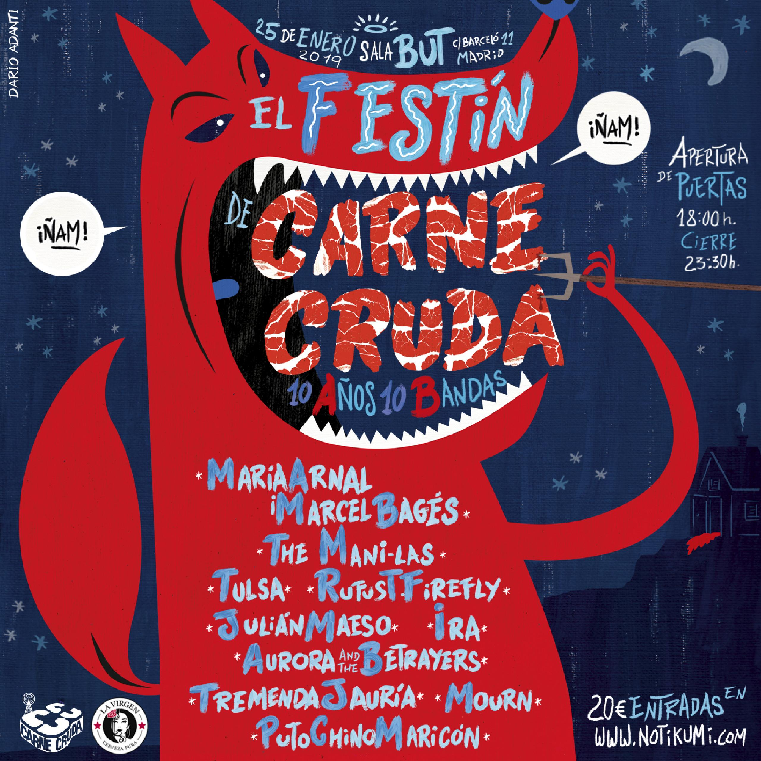 Cartel El Festin de Carne Cruda Sala But