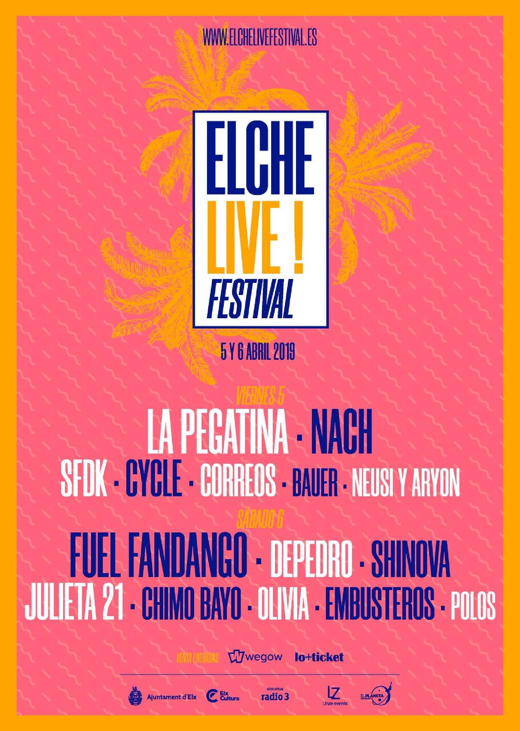 Cartel por días Elche Live 2019