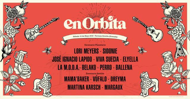 Cartel confirmaciones En Orbita Festival 2018