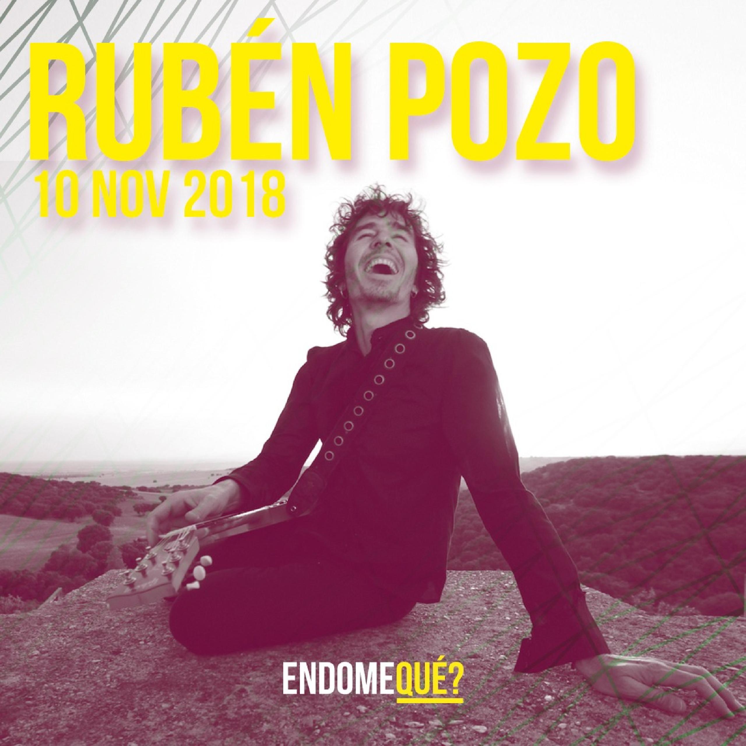 """RUBÉN POZO es un artista apasionado currante de rock & roll. La biografía musical de Rubén Pozo está llena de éxitos; comenzó con el grupo Buenas Noches Rose siendo un adolescente en el barrio de Alameda de Osuna y años más tarde llegó el éxito con Pereza, una de las bandas más relevantes del pop rock español en los últimos tiempos y de las que quedan emblemáticas canciones como """"Margot"""", """"Manager"""", """"Madrid"""", """"Grupis"""" o """"Pirata"""" entre otras. Será en la primavera del 2012 cuando Rubén Pozo saque su primer trabajo en solitario """"Lo que más"""", presentado con su primer single """"Pegatina"""", caracterizado por su original y divertido videoclip. En 2014 nos presenta """"En Marcha"""", su nuevo álbum producido por Nigel Walker y ahora, este año ha lanzado su tercer disco """"Habrá Que Vivir"""", uno de los trabajos más completos del artista, donde se ha vuelto a superar."""