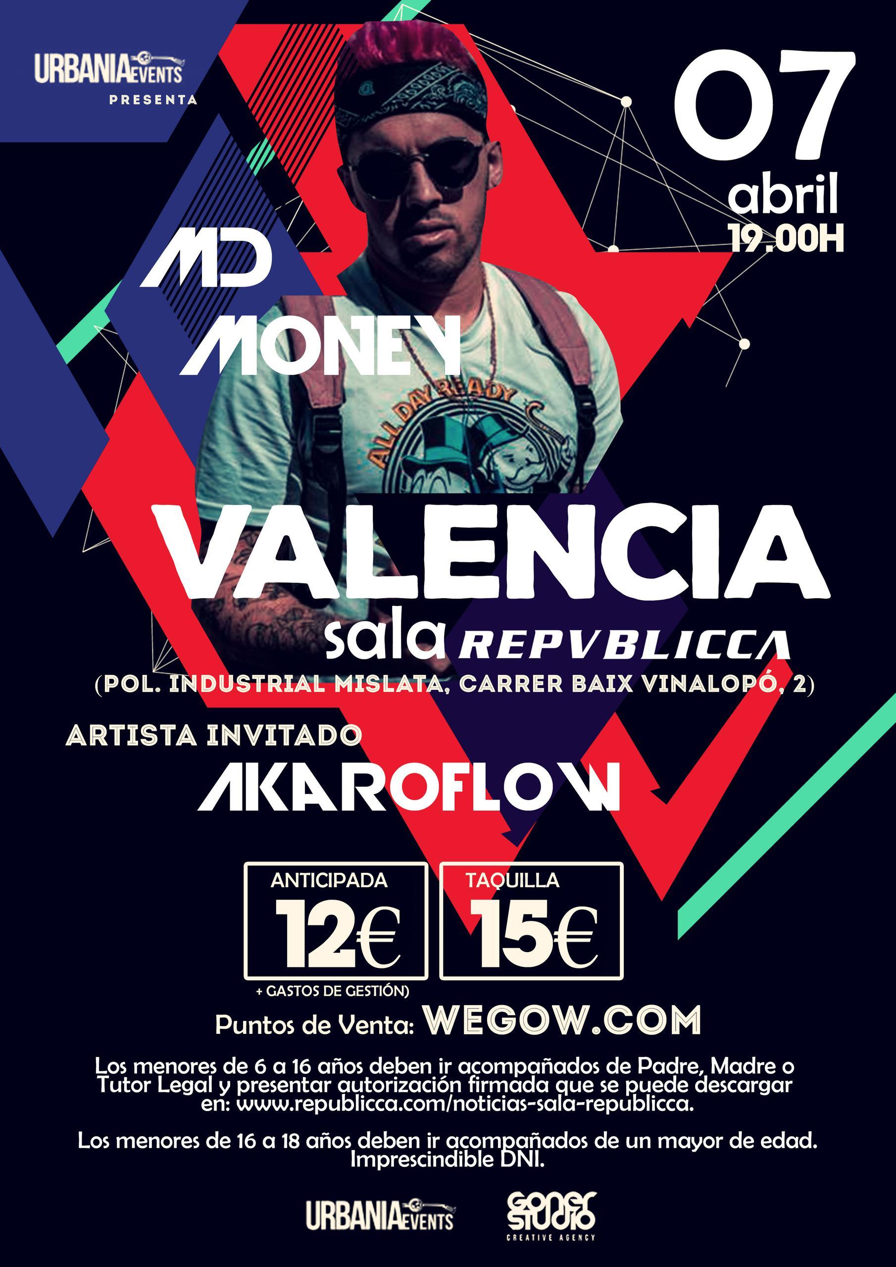 Concierto de MdMoney en la Sala Repvblicca de Valencia
