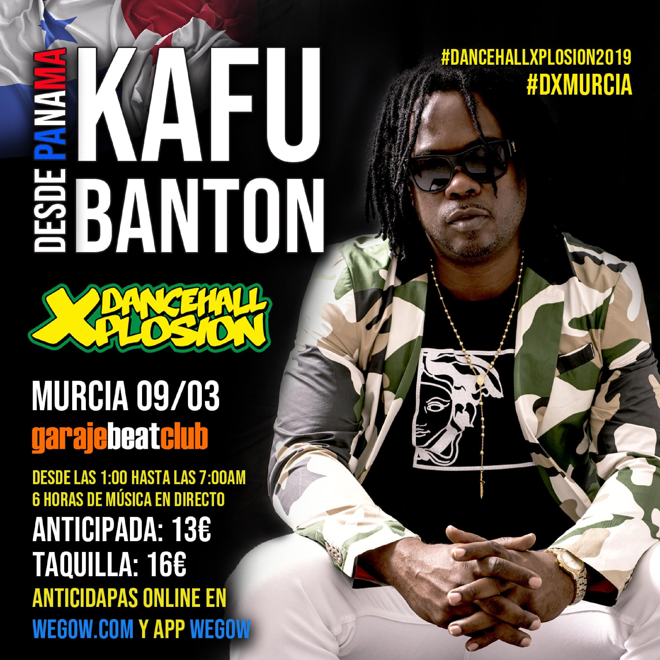 Kafu Banton vuelve a España para Dancehall Xplosion 2019 en Murcia