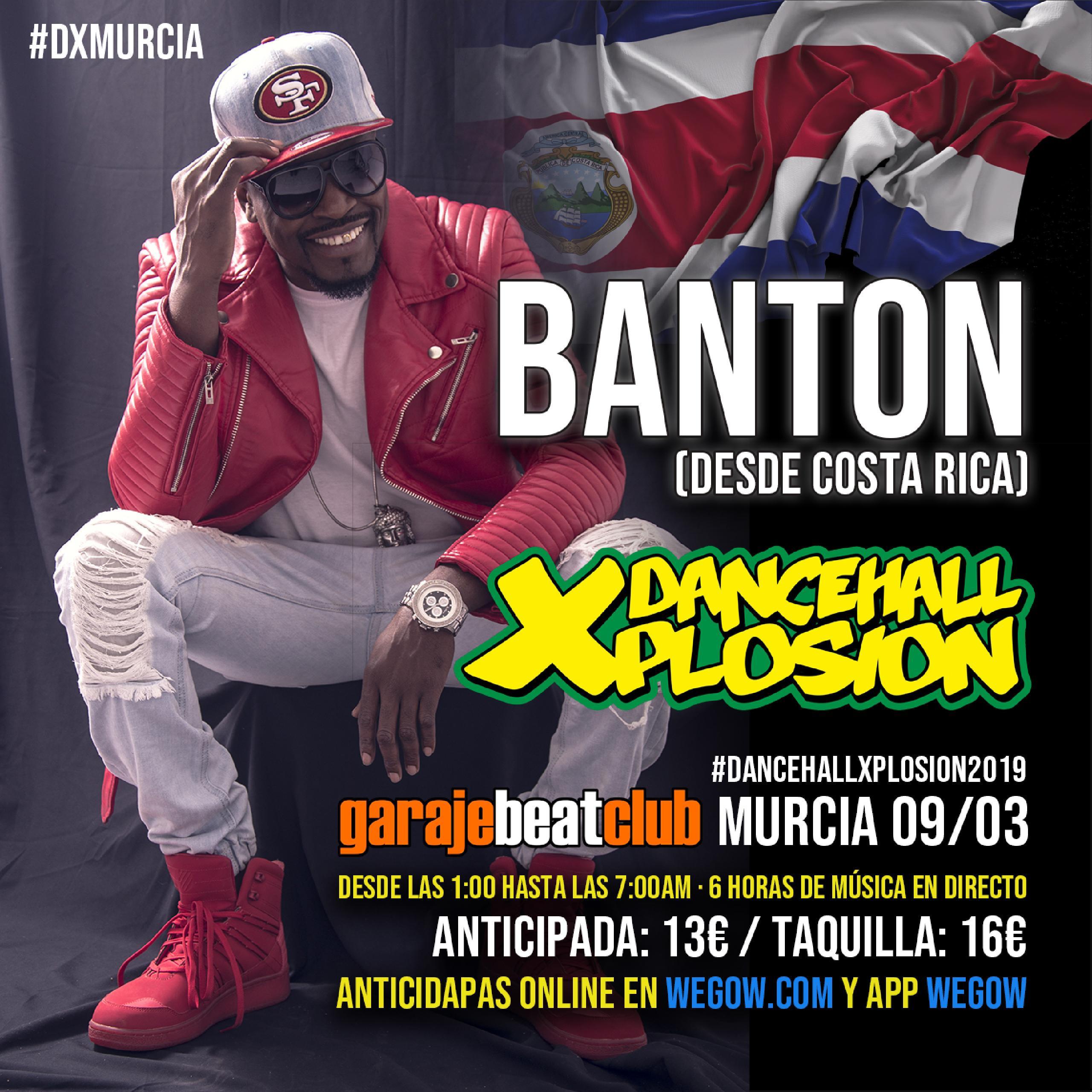 Banton desde Costa Rica en Murcia