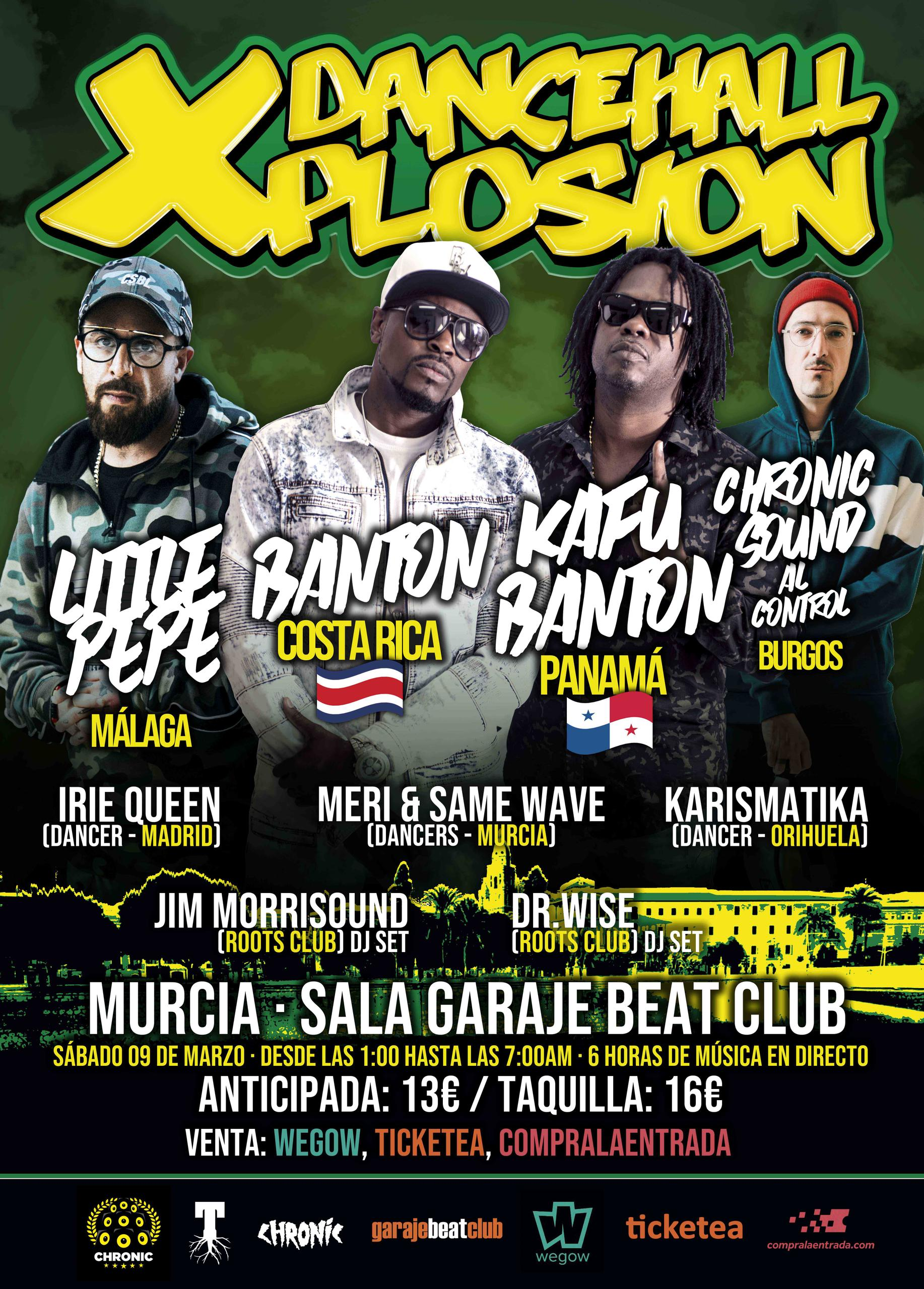 Cartel Final Dancehall Xplosion Murcia #DxMurcia