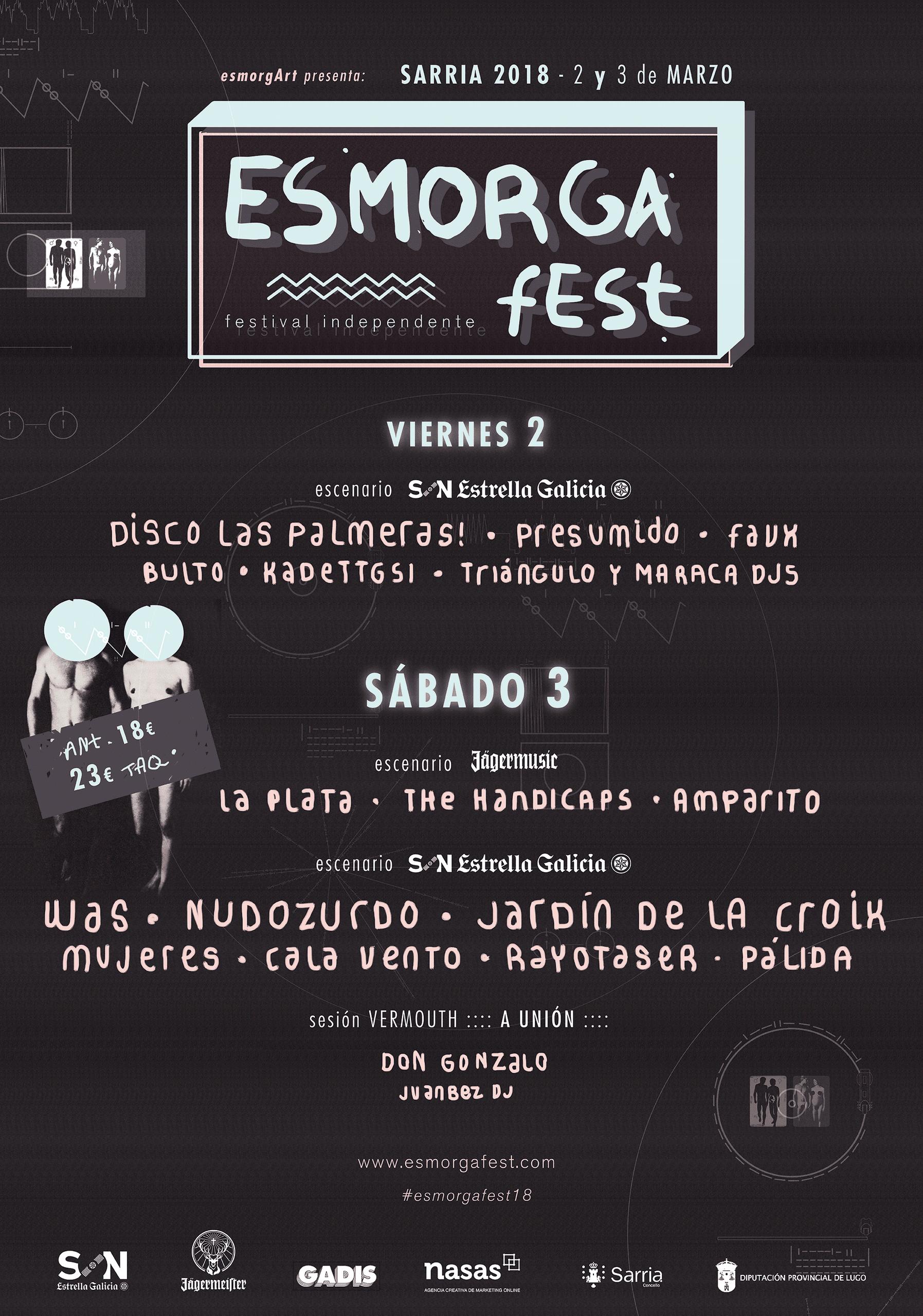 Cartel confirmaciones Esmorga Fest 2018