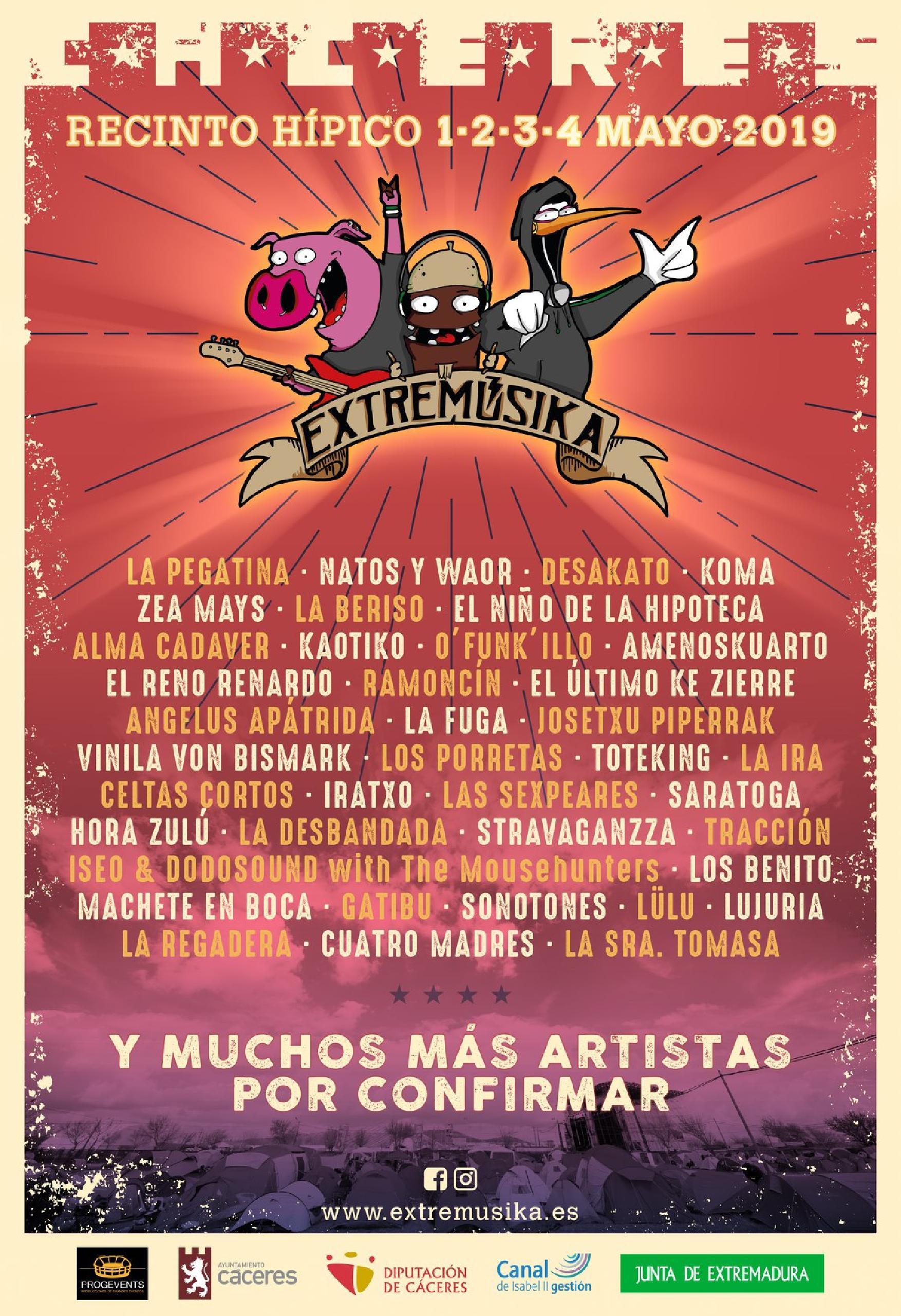 Cartel confirmaciones Extremusika 2019