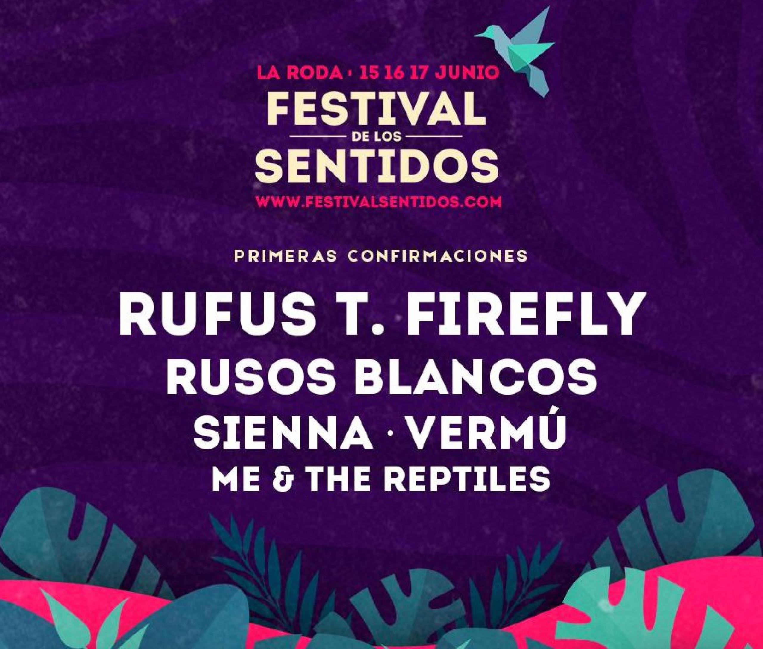 Cartel Primeras confirmaciones Festival de los Sentidos 2018
