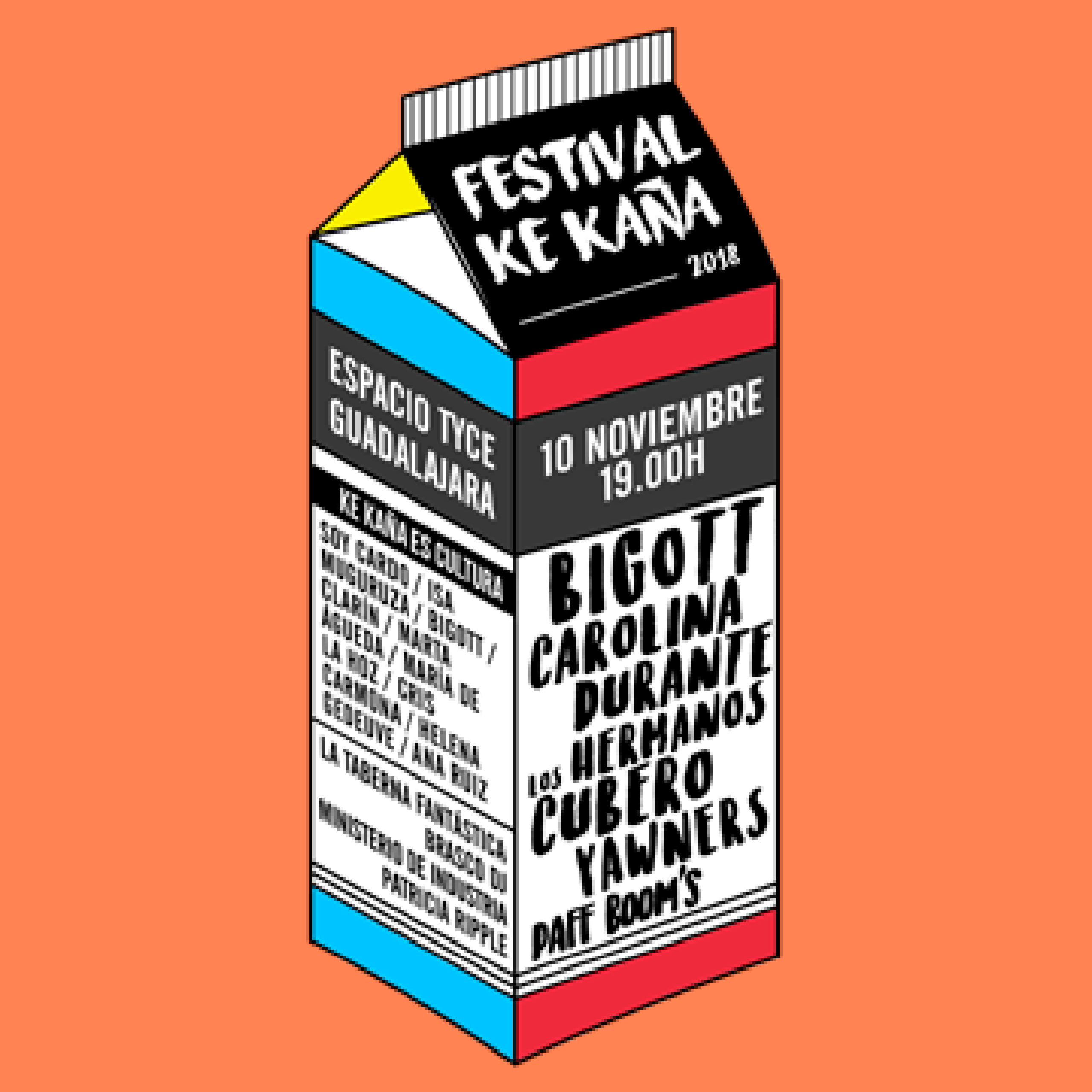 Cartel confirmaciones festival Ke Kaña 2018