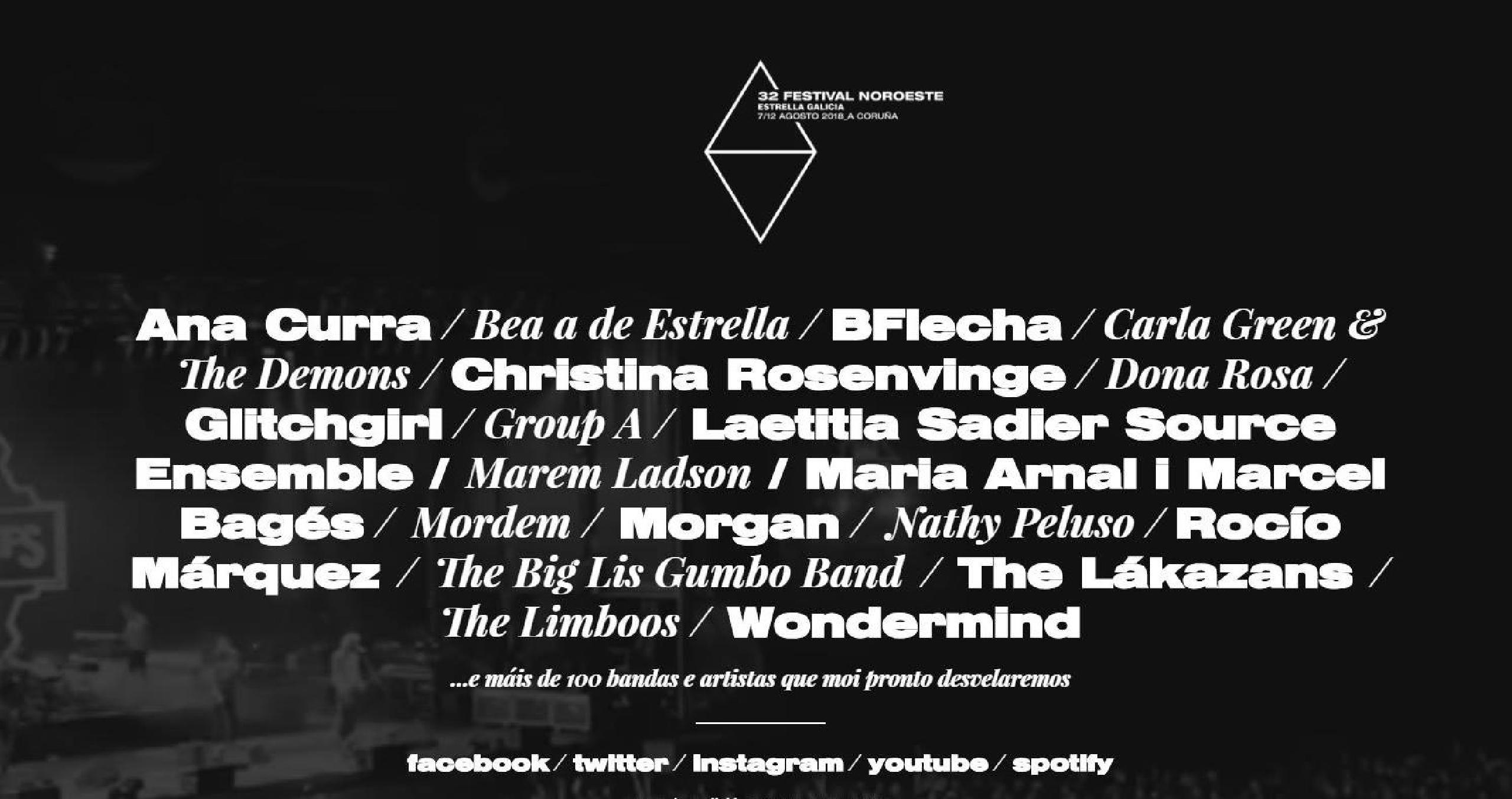 Foto del cartel del Festival Noroeste Estrella Galicia 2018