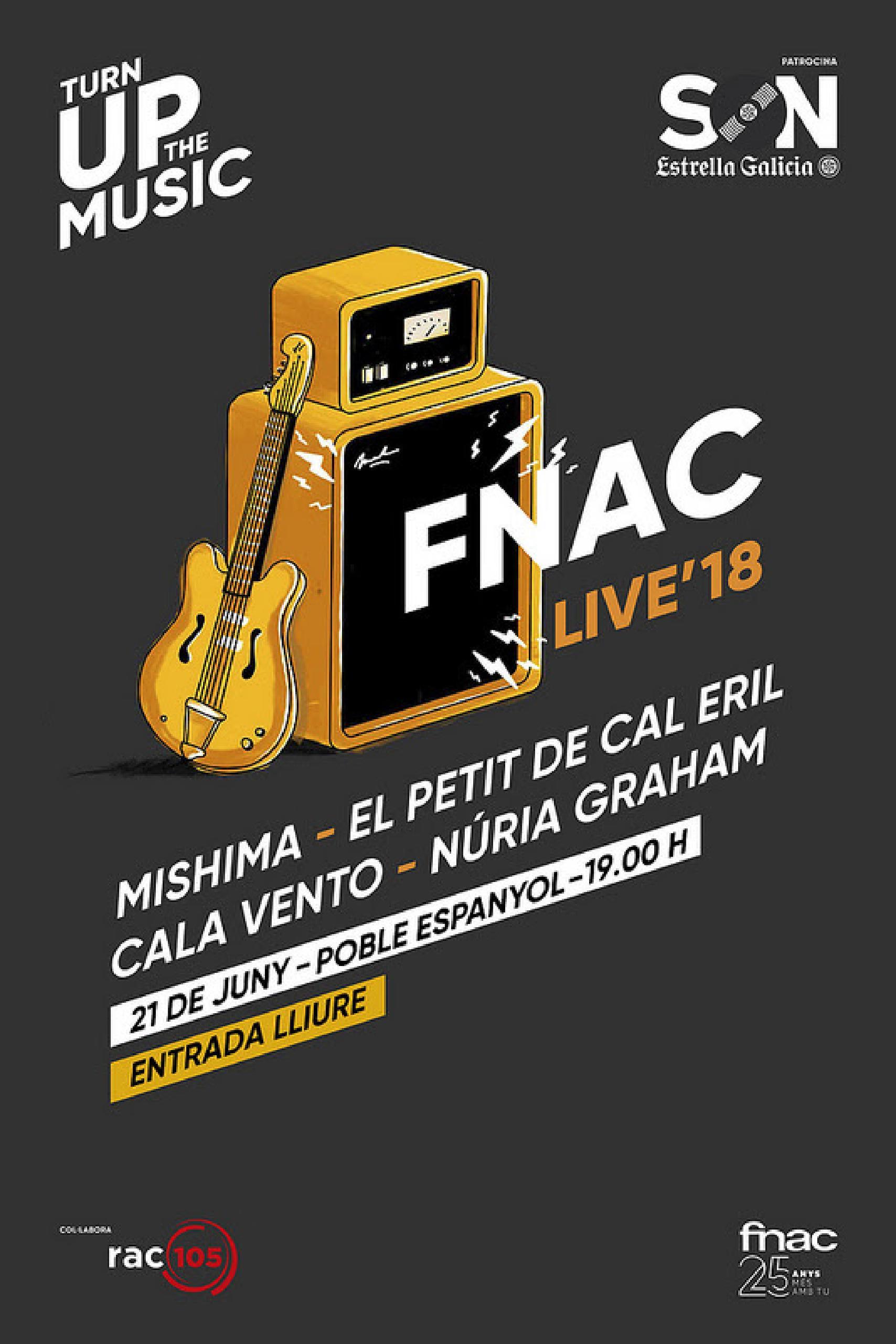 Cartel FNAC Live Barcelona 2018