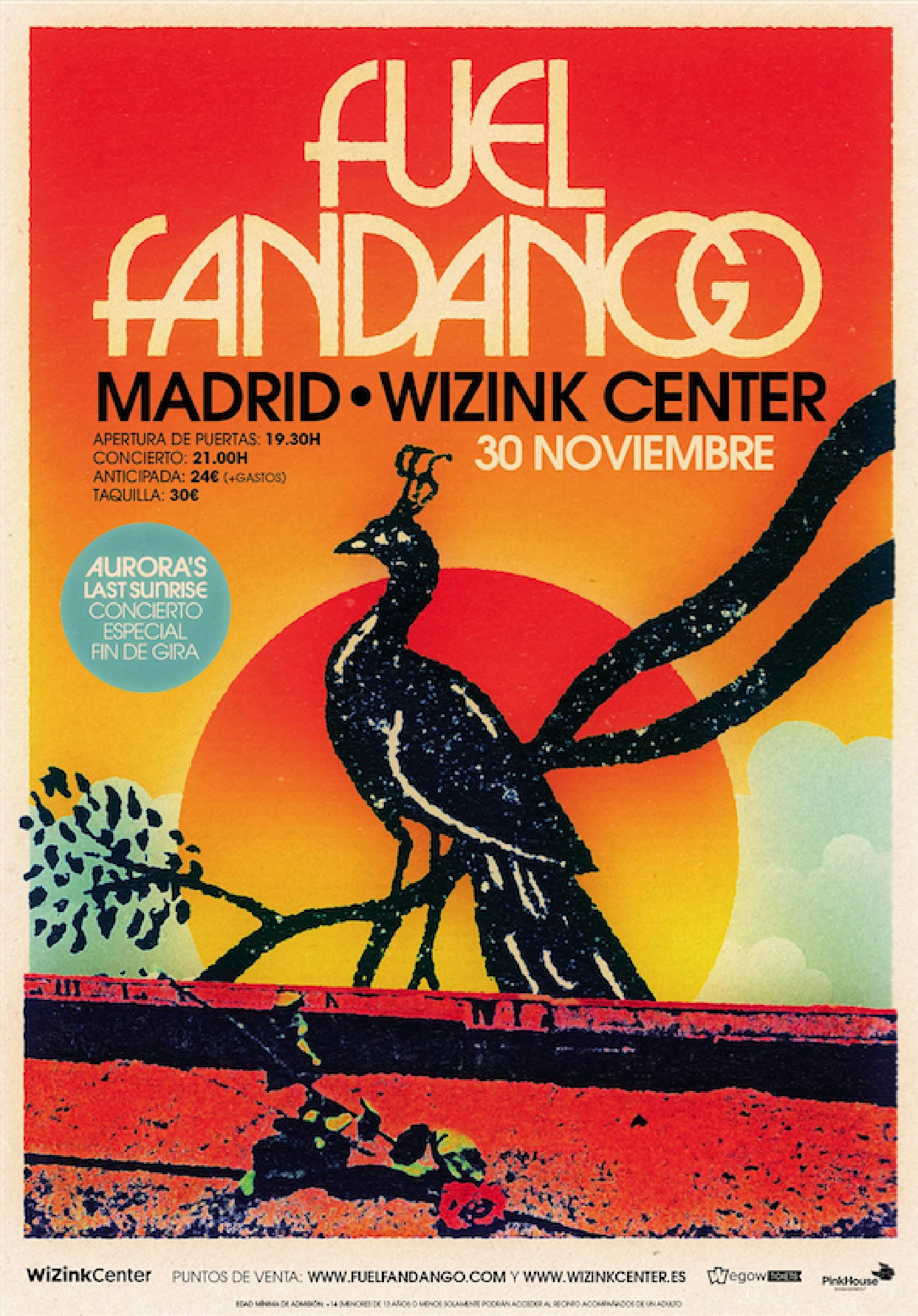 Cartel Fuel Fandango Madrid fin de gira