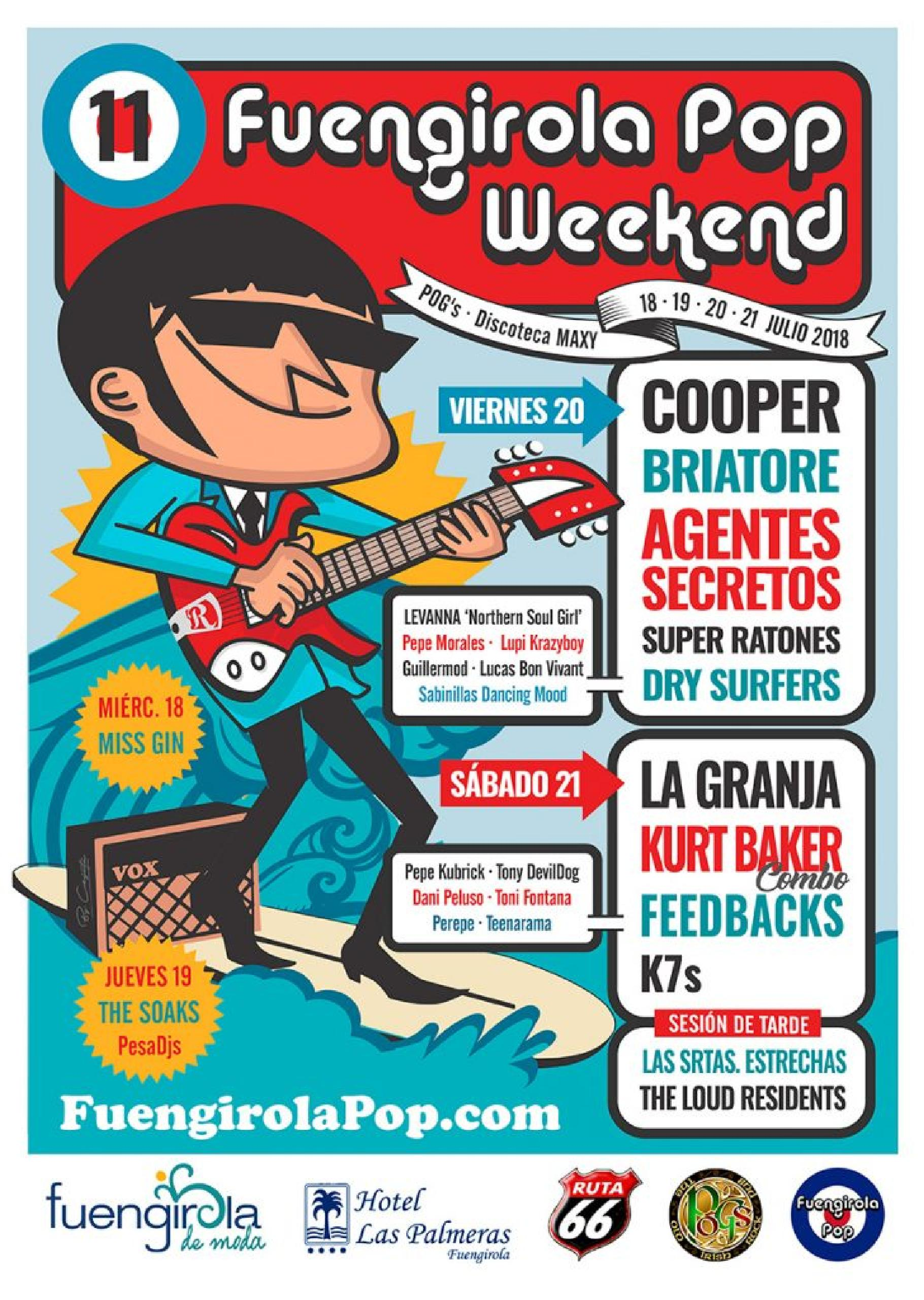Foto del cartel de Fuengirola Pop Weekend 2018