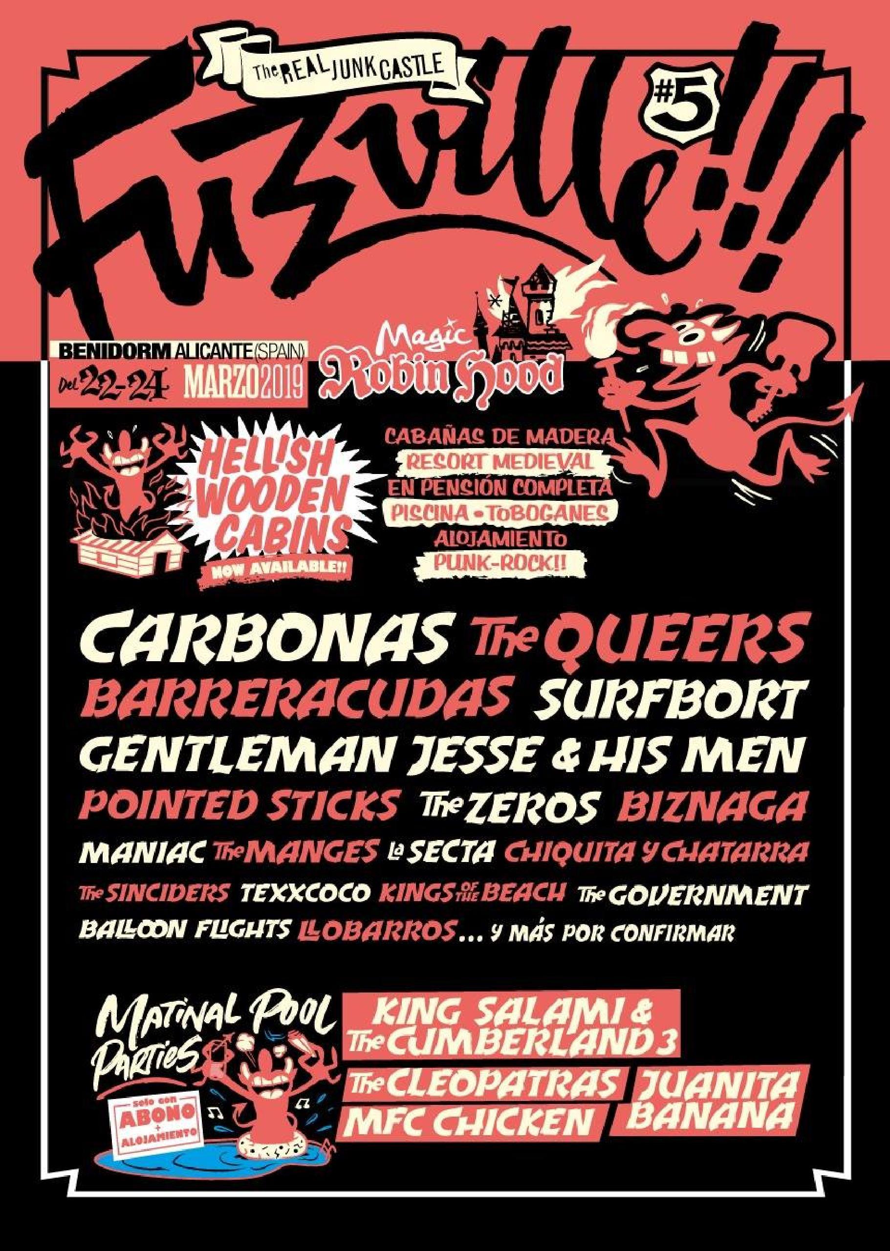 Cartel confirmaciones Fuzzville Festival 2019