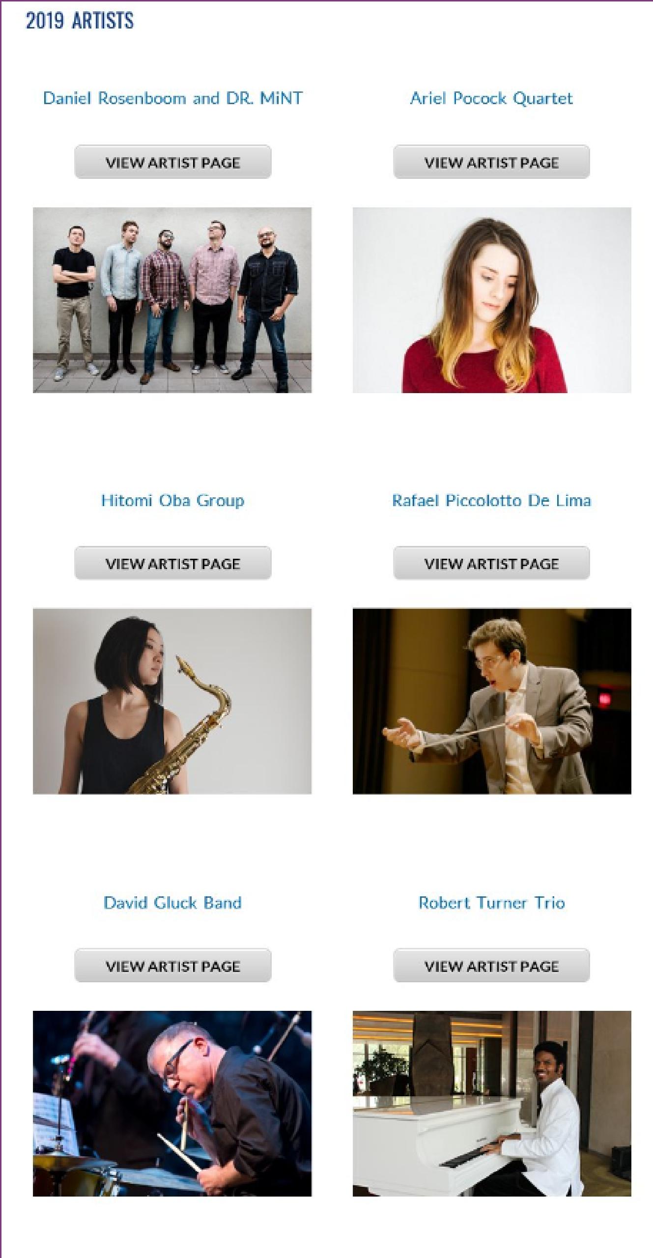 Gene Harris Jazz Lineup