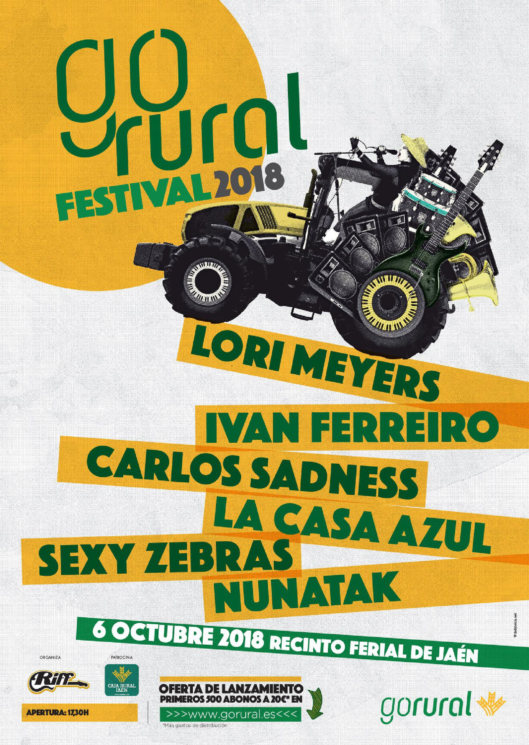 Cartel confirmaciones Go Rural 2018
