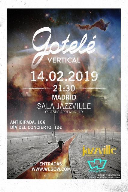 Día: 14/02/2019 Hora: 21:30 Sala Jazville (C/Jesús Aprendiz, 19; Madrid) Entrada anticipada: 10€ Entrada taquilla: 12€
