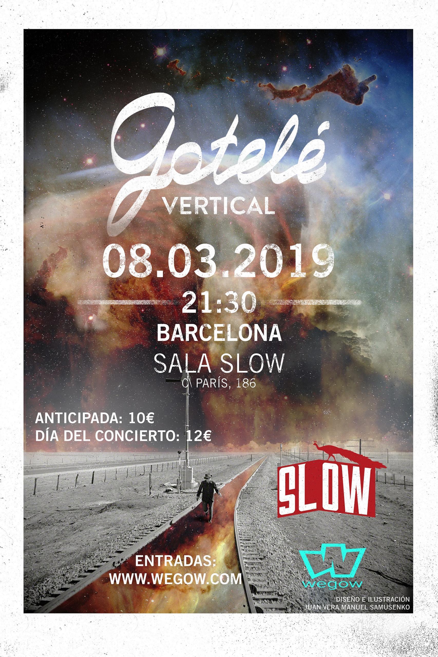Día: 08/03/2019 Hora: 21:30 Sala Slow (C/Paros, 186; Barcelona) Entrada anticipada: 10€ Entrada taquilla: 12€