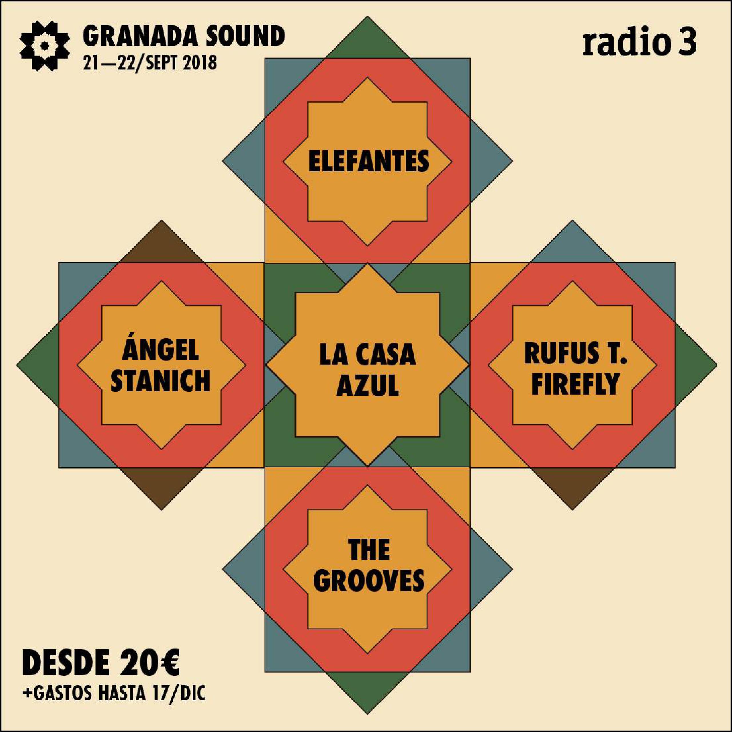 Cartel primeras confirmaciones Granada Sound 2018