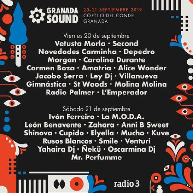Granada Sound 2019 cartel por días