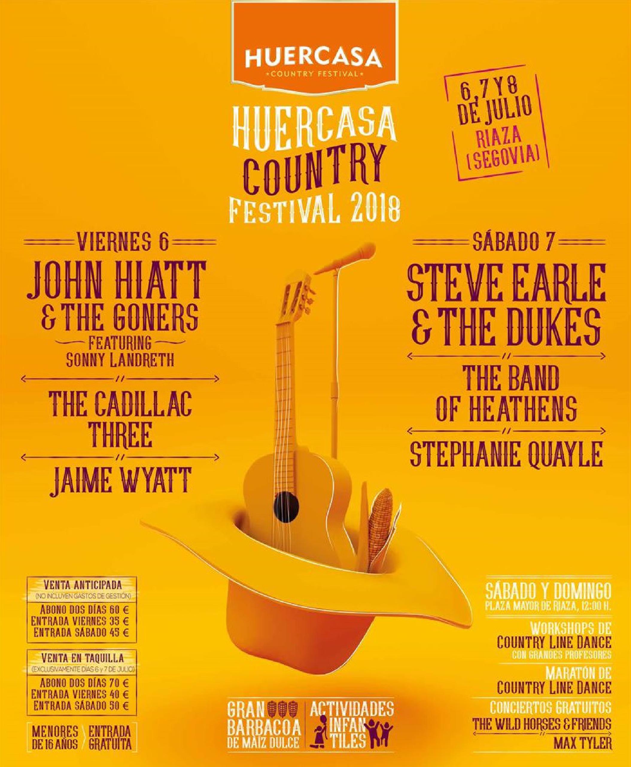 Cartel completo Huercasa Country Festival 2018