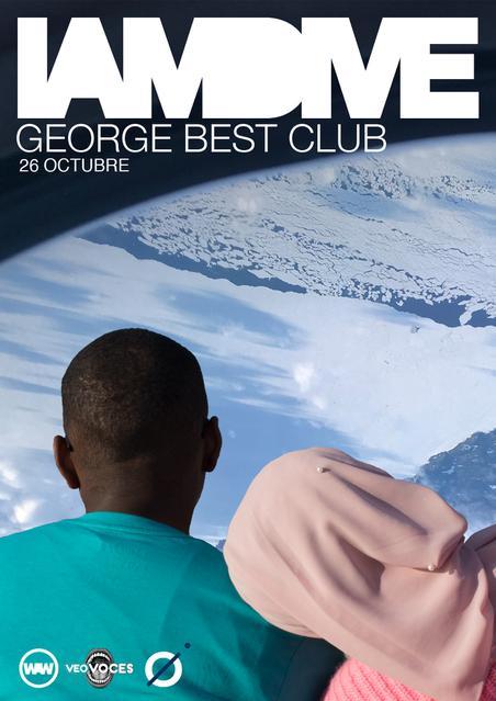 Póster del concierto de I am Dive en George Best Club, Valencia, el 26 de octubre de 2019.