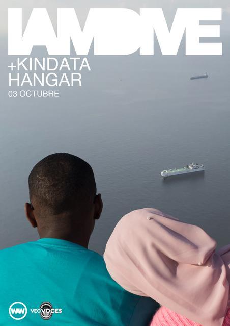Póster del concierto de I am Dive y Kindata en la sala Hangar, en Córdoba, el 3 de octubre de 2019.