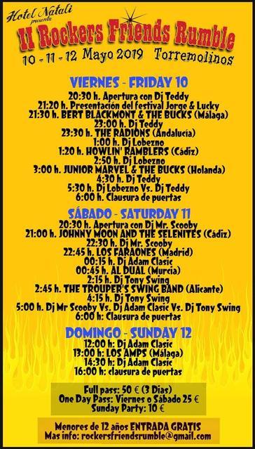 Programa II Rockers Friends Rumble