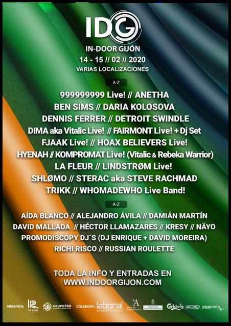 Cartel del In Door Festival 2020