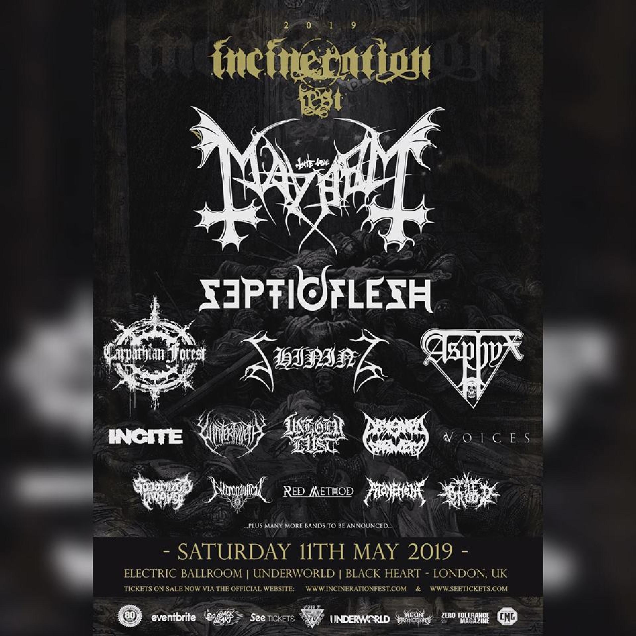 Incineration Festival Lineup