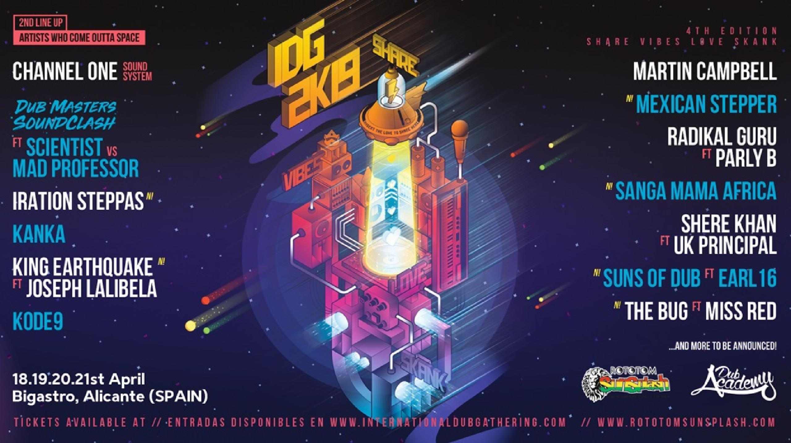 Line-up International Dub Gathering 2019