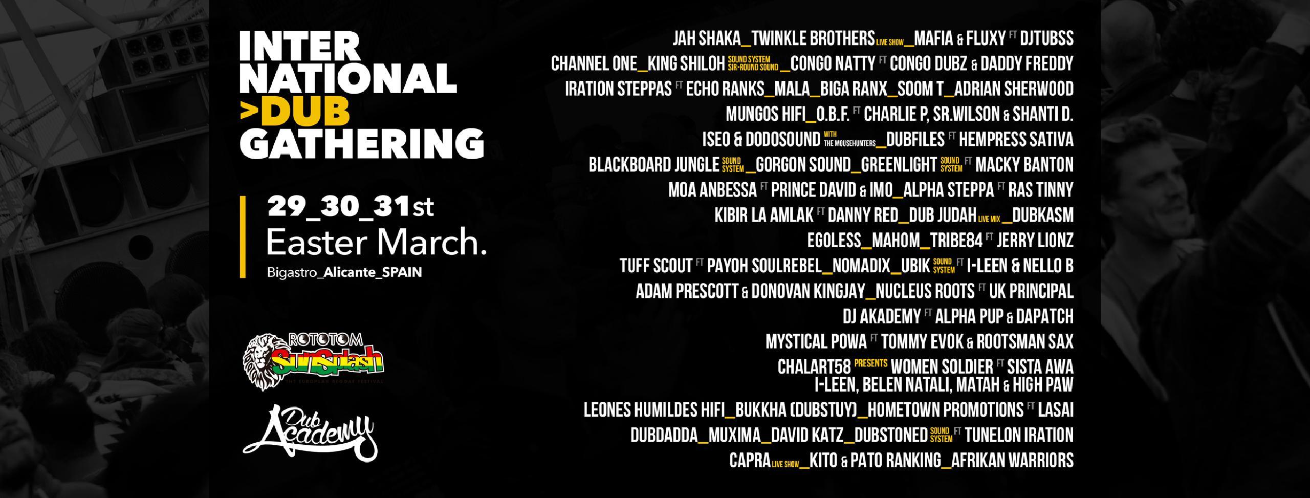 Cartel International Dub Gathering 2018 Line-up confirmaciones