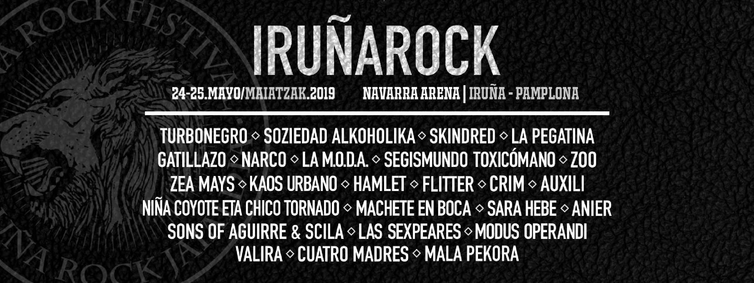 Cartel confirmaciones Iruña Rock 2019