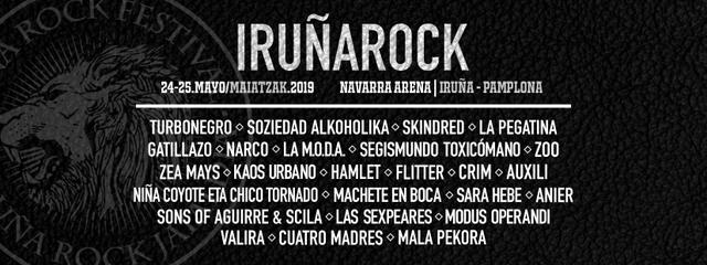 Cartel confirmaciones Iruña Rock 2019