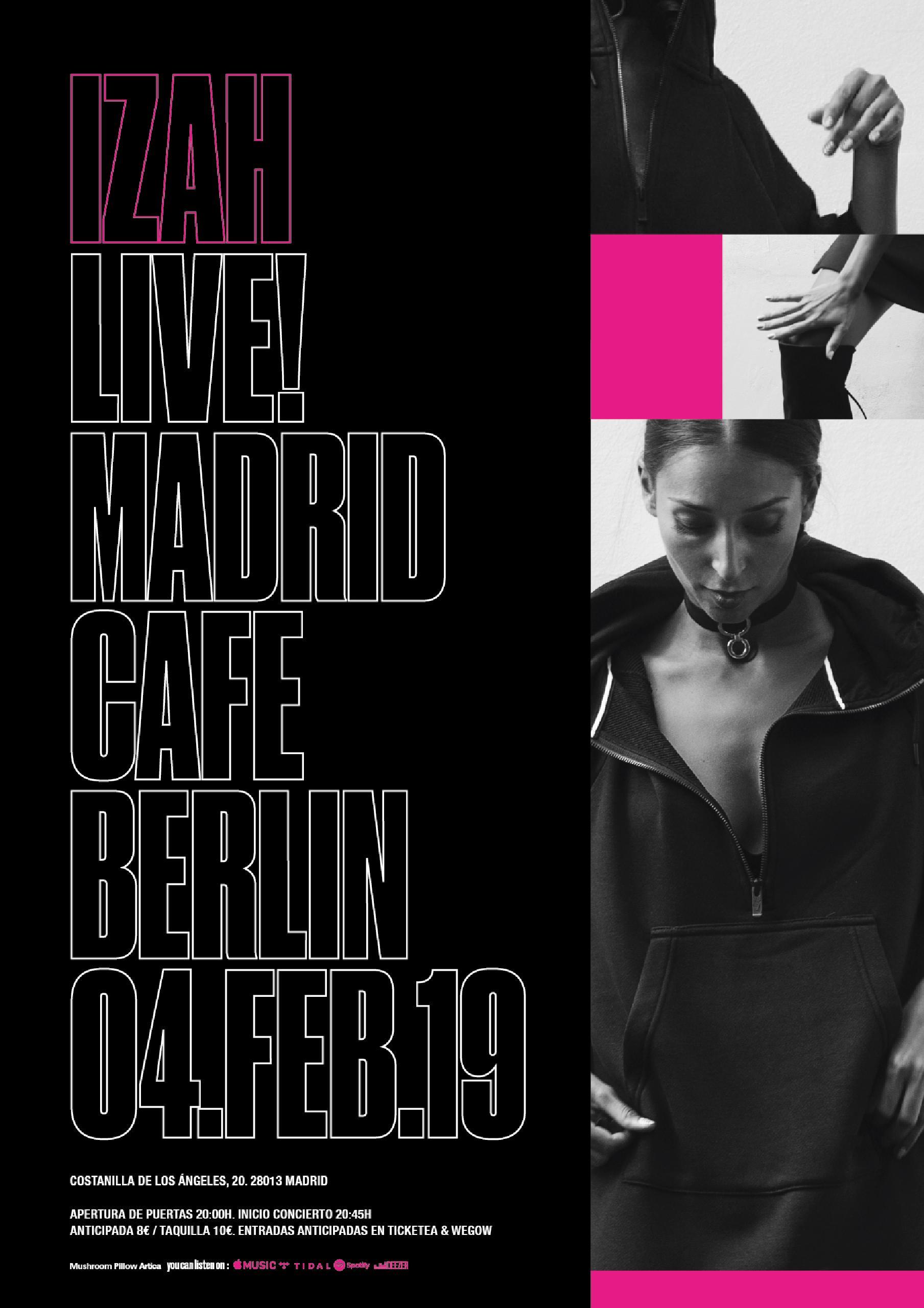 Izah en Café Berlín, Madrid