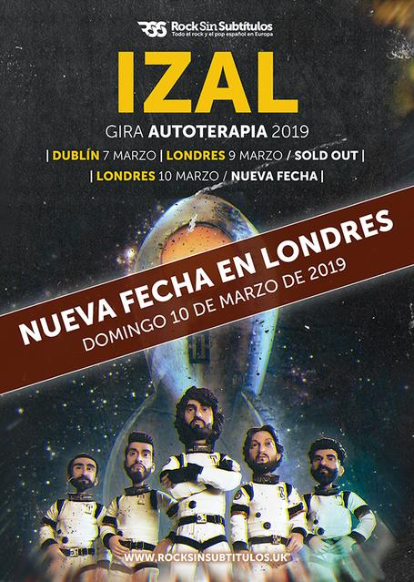 Domingo 10 de Marzo 2019,  18 horas @ The Grand, Londres