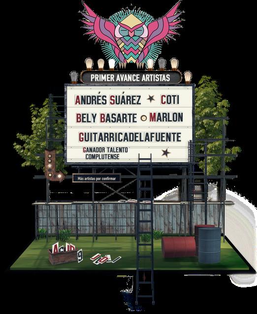 Cartel Jardín de las Delicias 2019