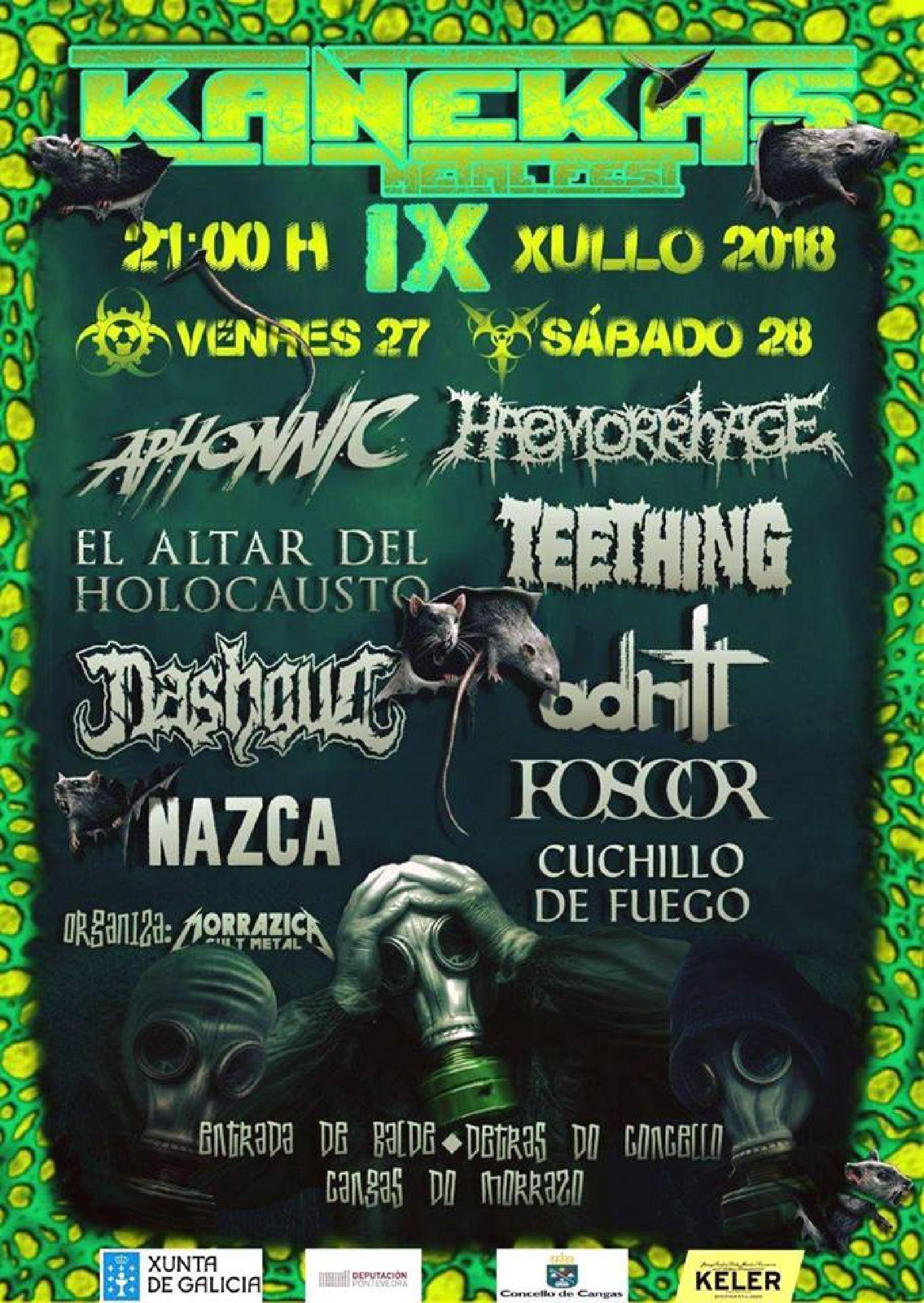 Cartel de Kanekas Metal Fest 2018