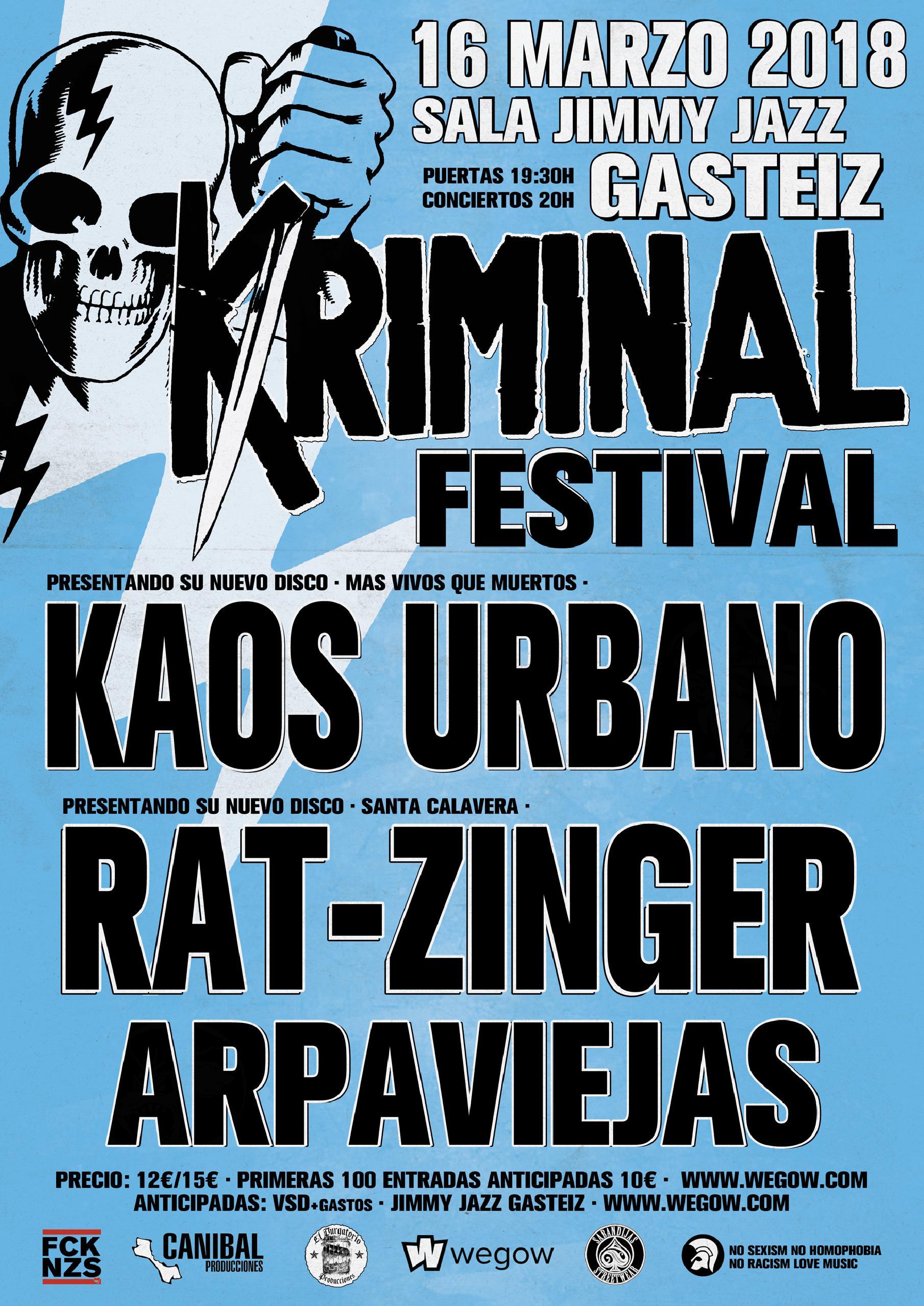 Cartel de la segunda edición del Kriminal Festival