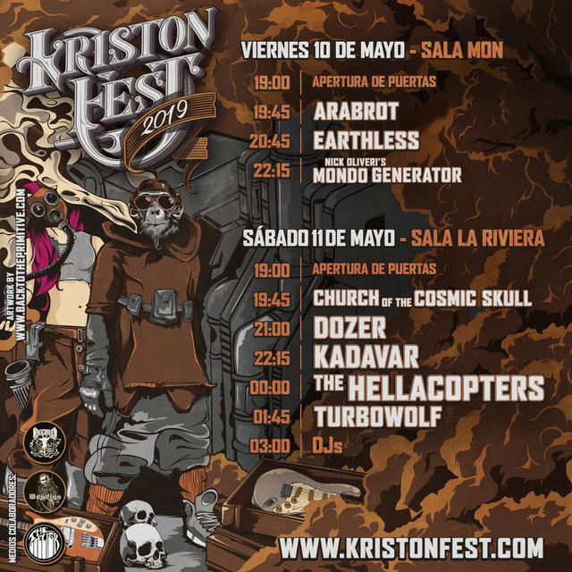 Horarios Kristonfest 2019