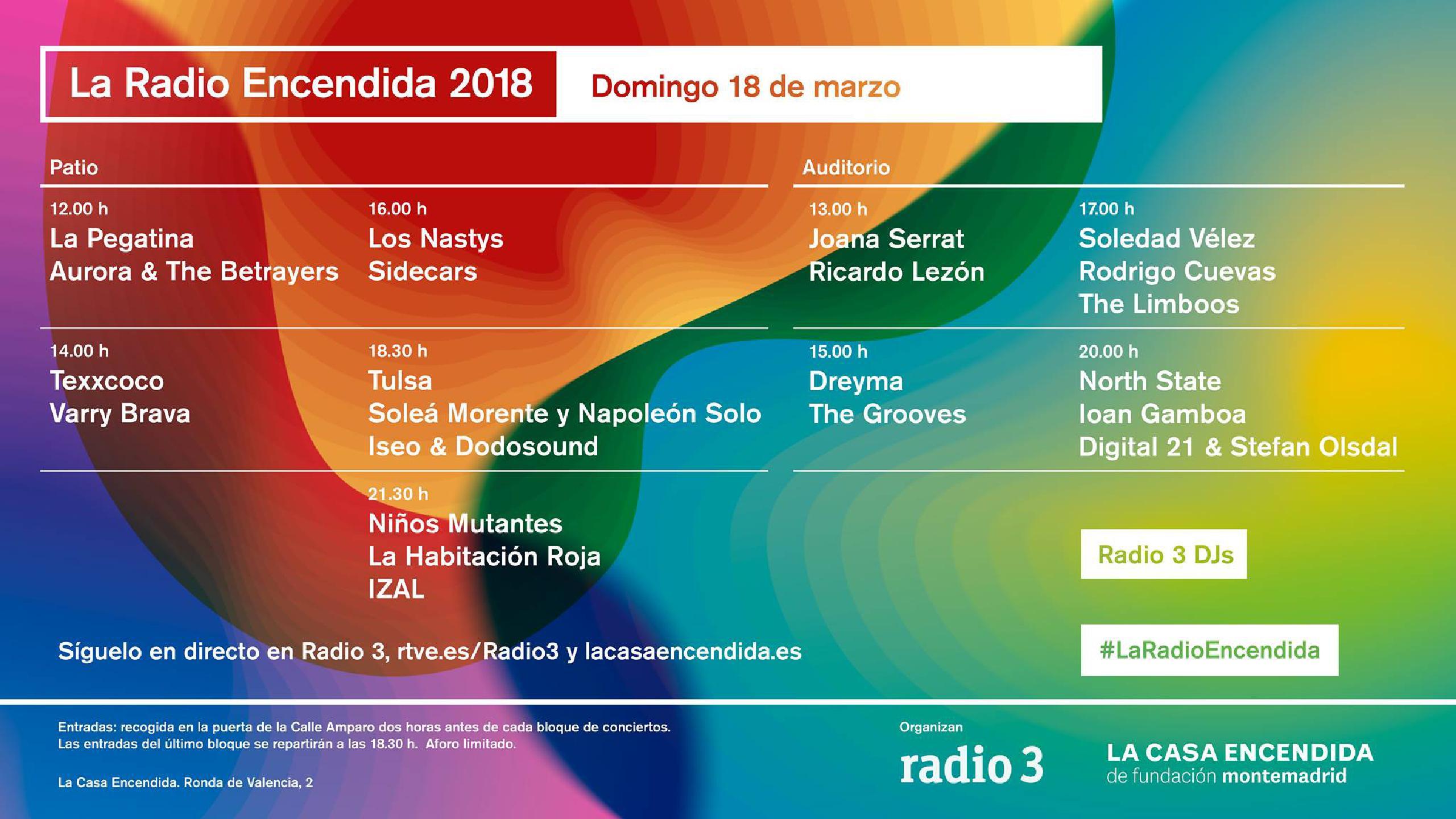 Cartel conciertos La Radio Encendida 2018