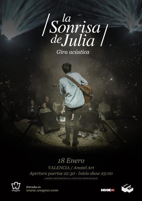 Cartel La Sonrisa de Julia Valencia